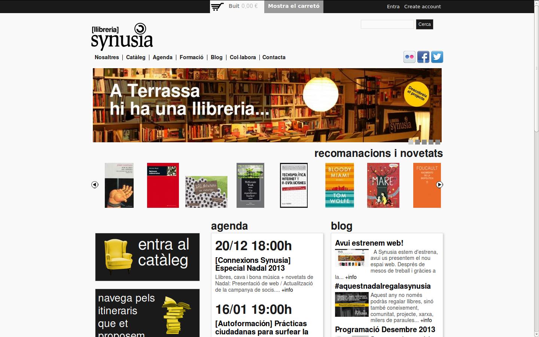 captura de la portada de la web synusia.cc