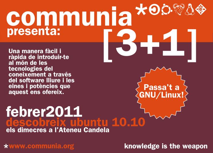 cartell 3+1 Formació al Ateneu Candela by communia