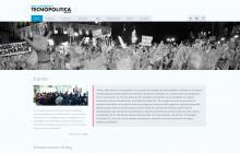 """Web del grup de recerca del In3 """"Redes, Movimientos y Tecnopolítica"""" (portada)"""